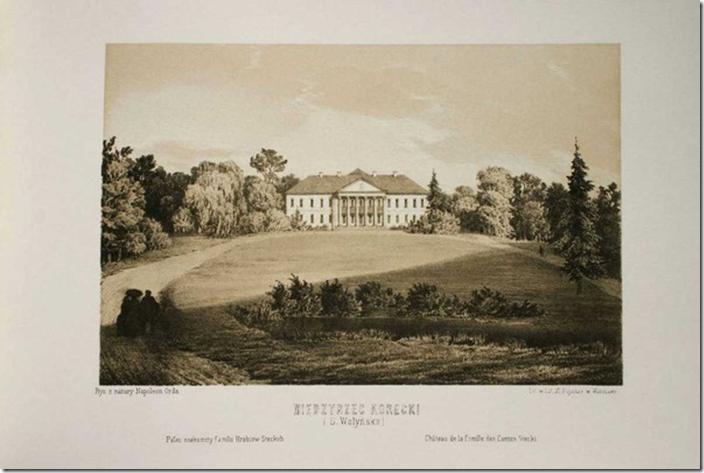 Великі Межирічі, палац на гравюрі Наполеона Орди